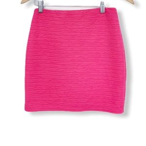 Forever 21 Hot Pink Ruched Mini Skirt M
